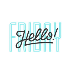hello lettering for banner vector image