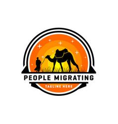 hijrah travel inspiration logo design vector image