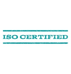ISO Certified Watermark Stamp vector image