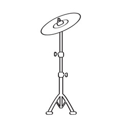 Isolated cymbal icon musical instrument vector
