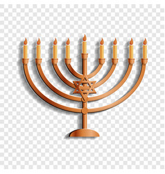 Jewish candle stand icon cartoon style vector