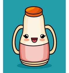 kawaii bottle juice baby icon vector image