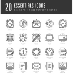 Line icons set Trendy Modern Flat thin linear vector
