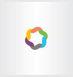 logo symbol colorful tech icon vector image