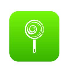 lollipop icon green vector image