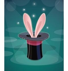 Magic cap and rabbits ear vector