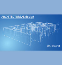 model floor apartment block vector image