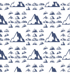 Mountain silhouette nature seamless pattern vector