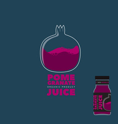 natural pomegranate juice logo and label vector image