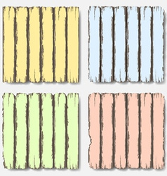 Old wooden fence in pastel colors vector image