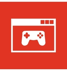 Online game icon design gaming game vector