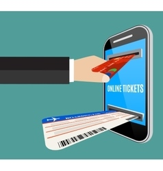 Online tickets ordering concept vector image