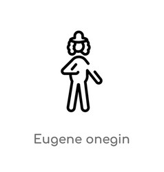 Outline eugene onegin icon isolated black simple vector