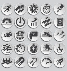 Performance icons set on background for graphic vector