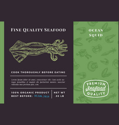 premium quality seafood abstract squid vector image