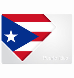 Puerto rican flag design background vector