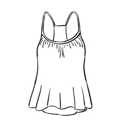 Racerback tank top sketch vector image