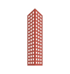 Red city building line sticker image vector