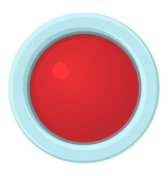 Red stop and panic button icon cartoon style vector