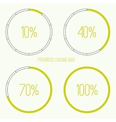 Round loader bar vector image
