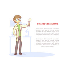 scientific research banner with space for text and vector image