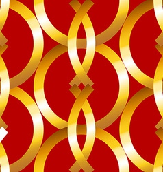 Seamless bold gold rings geometrics pattern vector