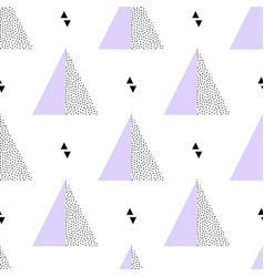 seamless retro memphis pattern with triangle vector image