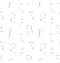 seamless teeth pattern on white background vector image