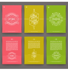 set abstract template flyer page design vector image