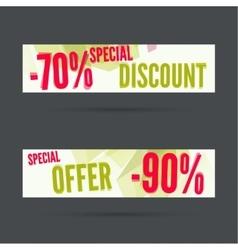 Set of discount banners vector