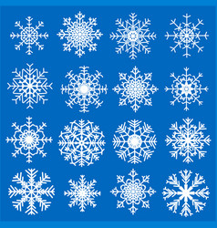 set of snowflakes vector image