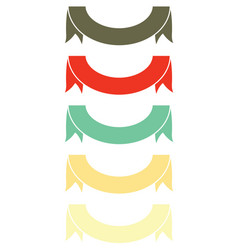set ribbon banner icon vector image