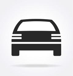 Simple car icon silhouette vector