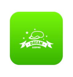 Sleeping icon green vector