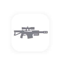 sniper rifle icon gun symbol vector image