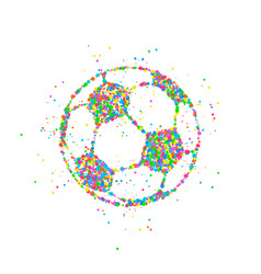 soccer ball abstract vector image