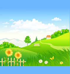 Summer country day vector