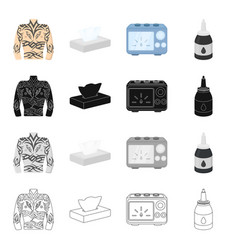 Tattoo drawing box and other web icon in vector