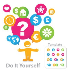 Template Do It Yourself vector image