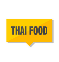Thai food price tag vector