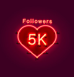 Thank you followers peoples 5k online social vector