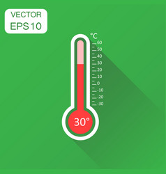 thermometer icon business concept goal pictogram vector image