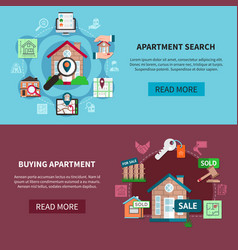 Two real estate banner set vector