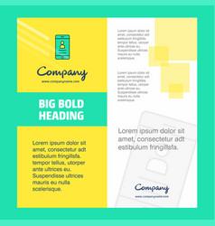 user profile company brochure title page design vector image