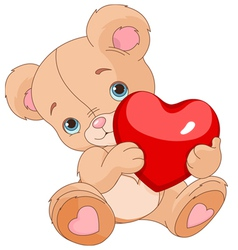 Valentines Teddy Bear vector