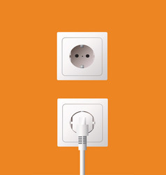wall socket and electric plug vector image