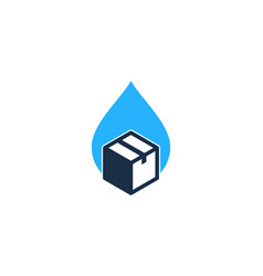 water box logo icon design vector image