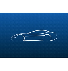 White car logo on blue texture vector image vector image