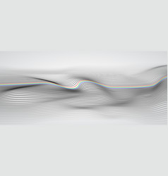 wide 3d wave stripe background with dept field vector image