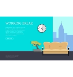Workplace Concept in Flat Style Design vector image